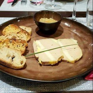 Foie Gras de canard mi-cuit, chutney de mangue