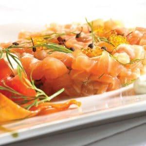 Tartare de saumon aux aromates